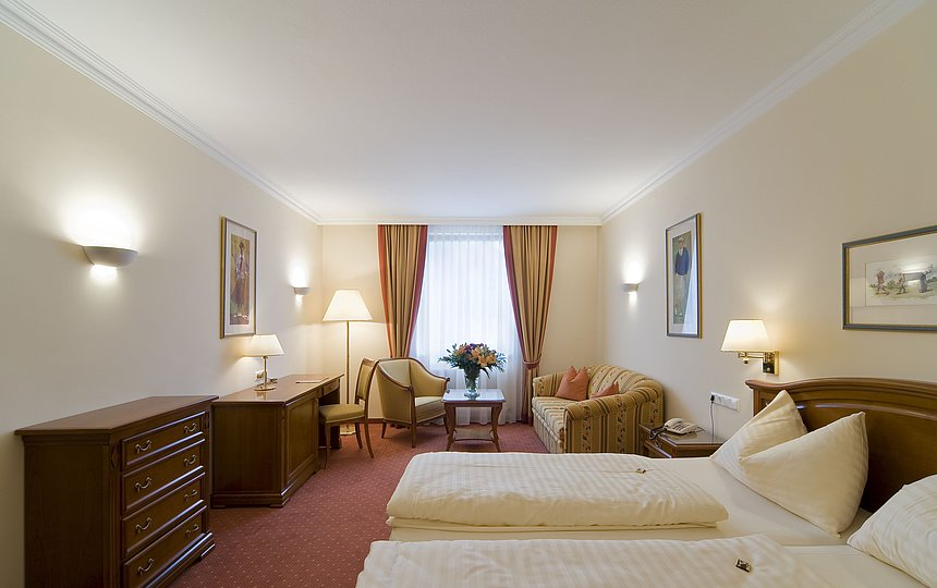 Entspannen in unseren Romantik Superior Zimmern ©Vergeiner's Hotel Traube