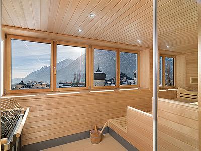 Sauna mit Panoramablick ©Martin Lugger