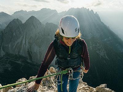 Alpines Klettern - Alpenrautekamin (Lienzer Dolomiten) ©Strauss Sam (TVB Osttirol)